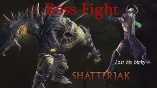 """Sacred 3 - Boss Fight #4 - Shaddar Cage: """"Shatterjak"""" - Legend Difficulty (Full 1080p HD}"""