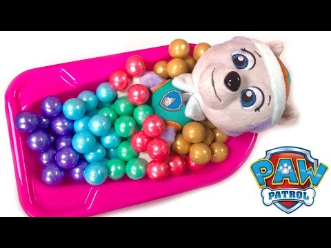 Thumbnail: Best Learning Colors Video for Children - Paw Patrol Everest Takes Candy Gumball Bath Bath Tub