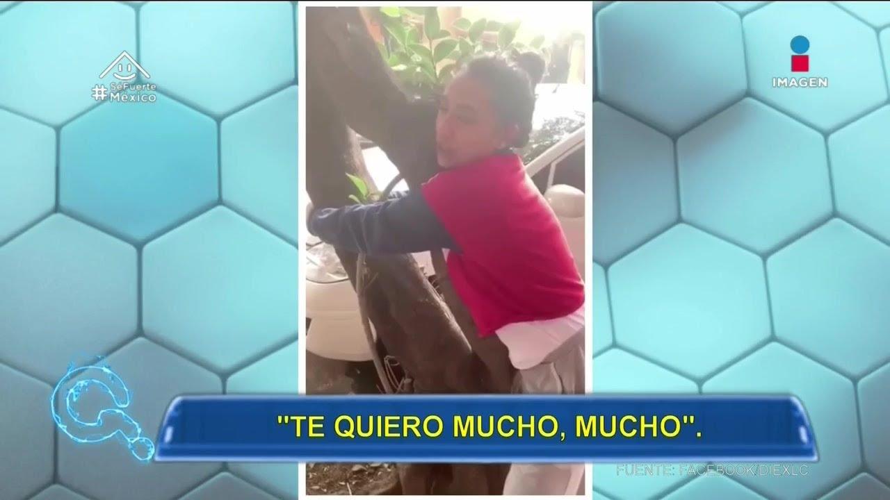 Flor Amargo besa y canta a un árbol en la calle | Qué Importa