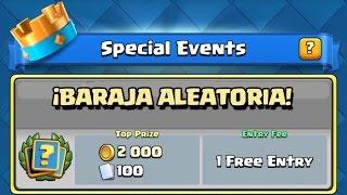 Repeat youtube video SOY EXPERTO EN BARAJAS ALEATORIAS | BARAJA CIEGA | Desafío de Evento Especial Clash Royale Español
