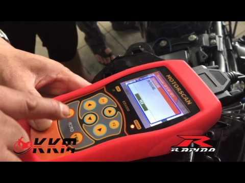 ED-1000 Motorcycle Diagnostic Tool Kit on Kawasaki  Demo by Rapido Malaysia