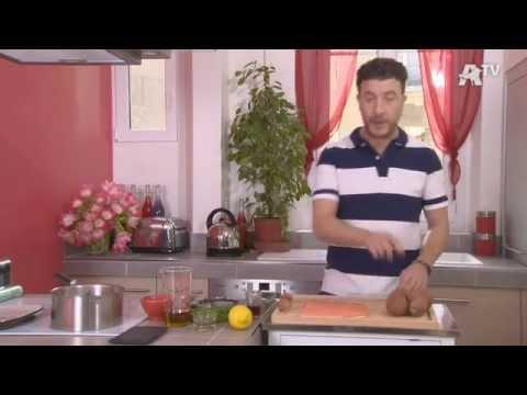 recette-de-cuisine---saumon-mariné-sur-salade-de-patates-douces