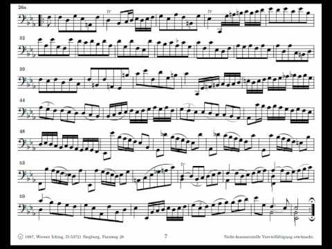 J. S. Bach Cello Suite n. 4 BWV 1010 - 3. Courante - Piano Transcription [tbpt28]