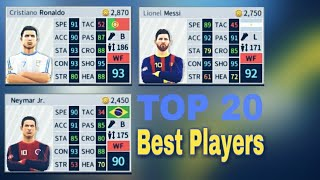 TOP 20 Best Players In Dream League Soccer 2018 ft. Ronaldo, Messi, Neymar