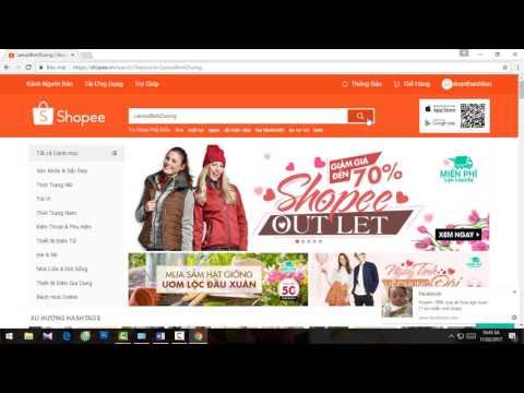 Hướng dẫn đăng ký và mua hàng trên shopee