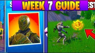 Fortnite ALL Season 7 Week 7 Challenges GUIDE! Unlock *NEW* Snowfall Skin! (Fortnite Battle Royale)