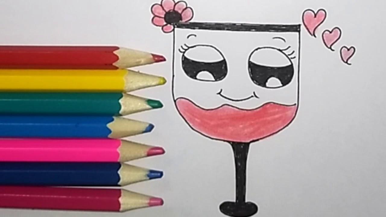 اسهل لرسمة للطفل رسومات بسيطة وسهلة رسم للاطفال كيفية رسم كأس Draw Easy Cute Cup Youtube