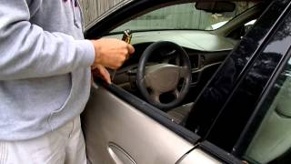 How to get car door window up when it has fallen into door panel