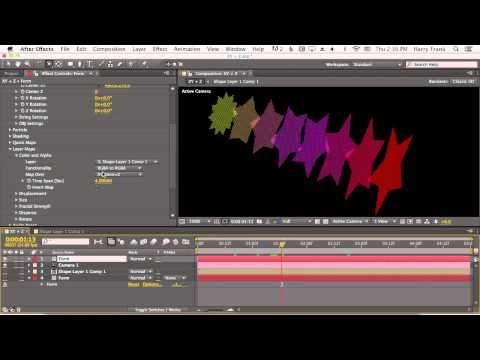 08 - Getting Started With Trapcode Form: Layer Maps Continued And Kaleidospace