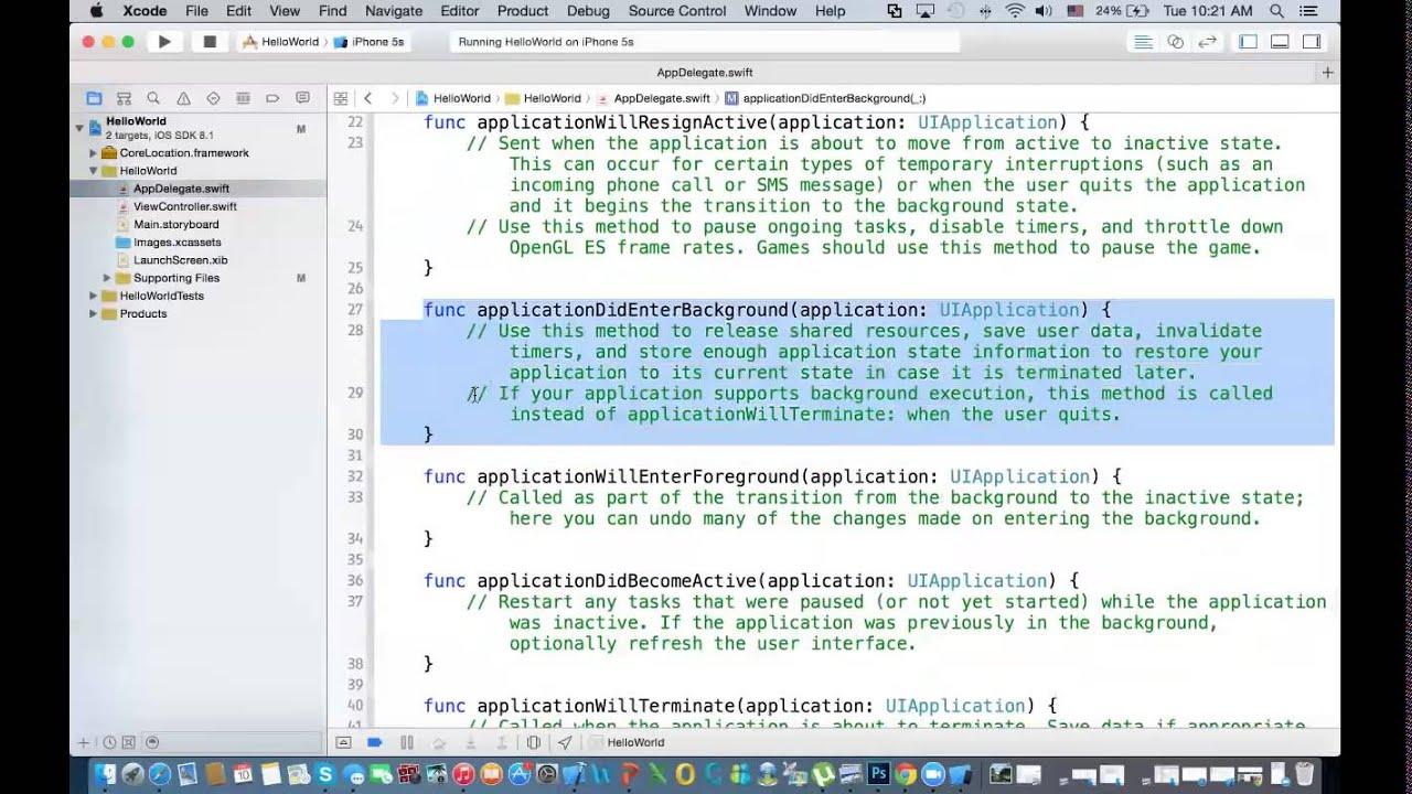 0 - Basics of Swift and Xcode, HelloWorld