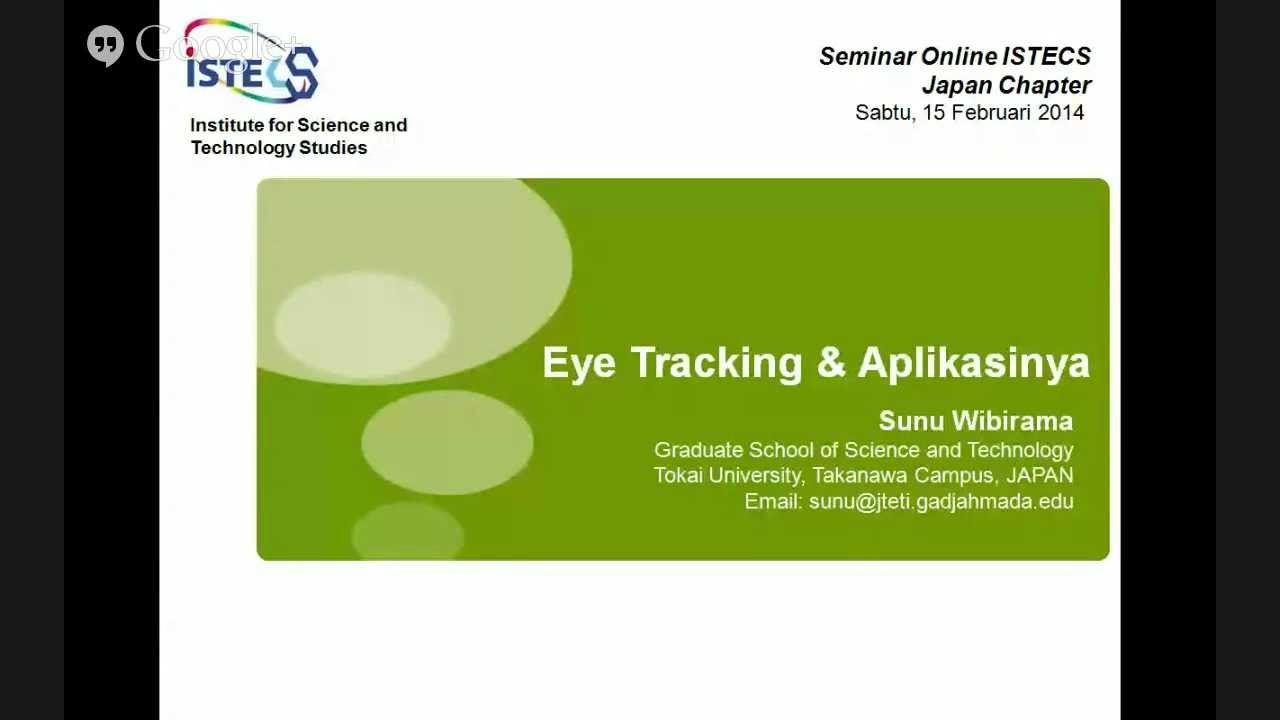 Sunu Wibirama | Eye Tracking & Intelligent UX Group | UGM Indonesia