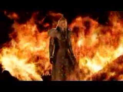 05 Crisis Core Final Fantasy Vii Sephiroth On Fire Avi