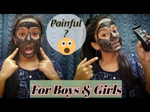 charcoal-peel-off-mask-review-+-live-demo- -in-bengali- -for-men-&-women -blackhead-removal-mask