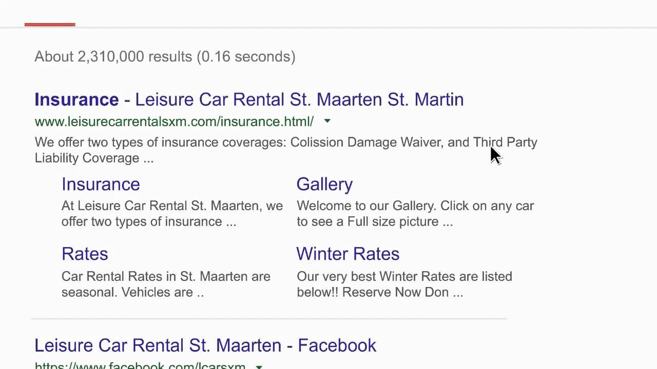 Leisure car rental st maarten