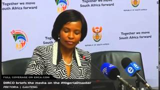 DIRCO briefing on the Nigeria Disaster