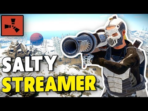 SALTY TWITCH STREAMER Calls Us Out For HACKING! (Rust) thumbnail