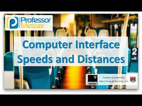 Computer Interface Speeds and Distances - CompTIA A+ 220-901 - 1.7