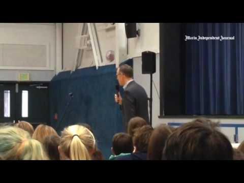 Congressman Jared Huffman talks environment, politics to Mill Valley Middle School students