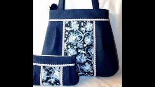 Сумки из старых джинсов.(Из потертых или ставшими малыми джинсов можно сшить немало прекрасных вещей. Например сумочку или рюкзак., 2015-12-17T12:32:29.000Z)