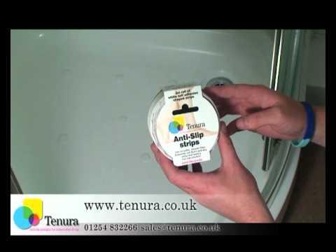 Tenura Aqua Safe Anti Slip Bath and Shower Stickers: Application.
