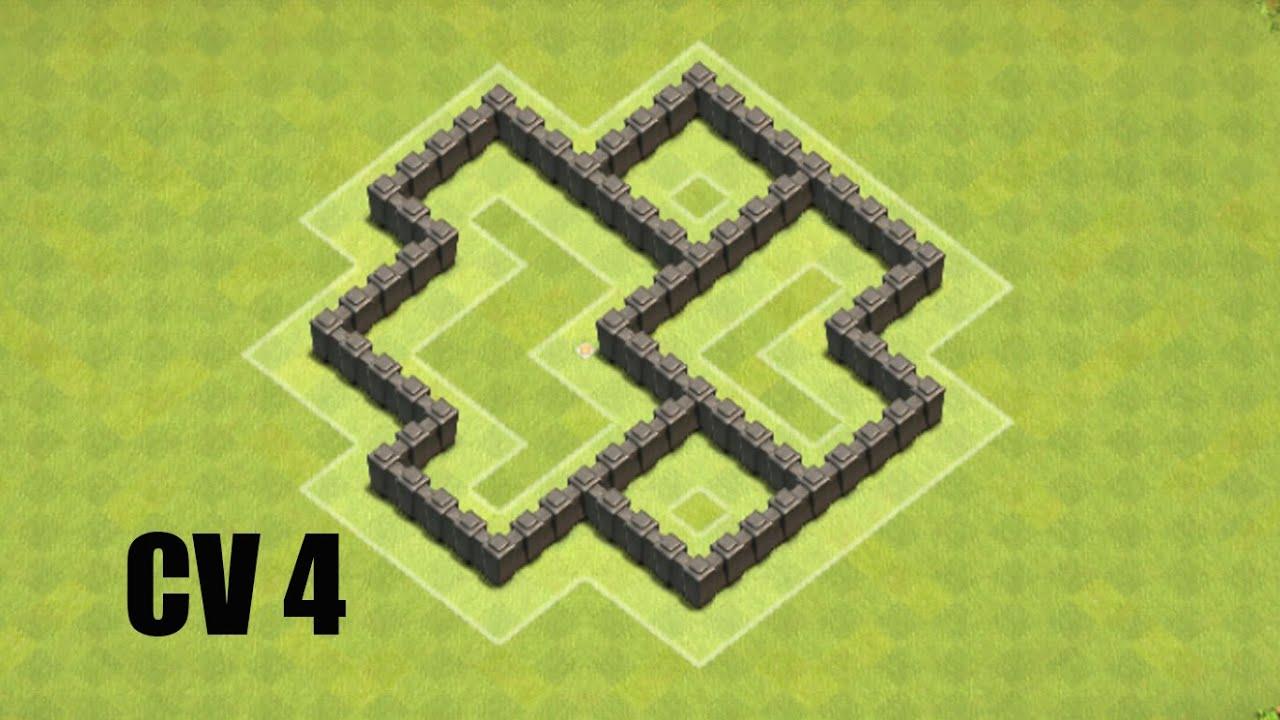 cv 4 layout hbrido coc clash of clans - Layout Cv 4 Guerra