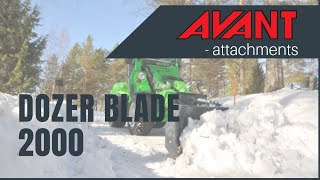 Dozer Blade 2000 2, Avant 300-700 Series attachment Thumbnail