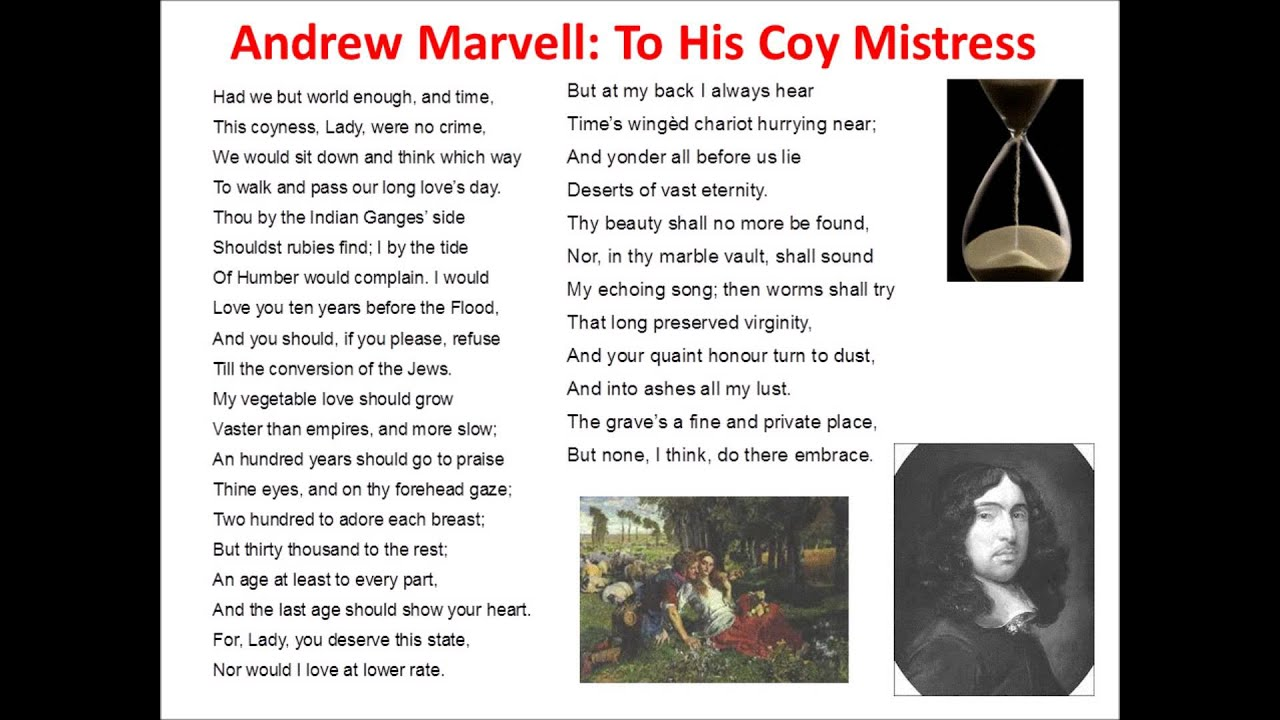 an analysis of strong statements in the poem to his coy mistress by andrew marvell But in your analysis of to his coy mistress:  these statements are usually used  andrew marvell used his knowledge of religion to make his poem.
