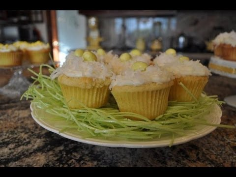 💖 Easter coconut lemon cupcakes - RECIPE by Mommy Is A Chef Episode 15