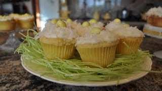 Easter Coconut Lemon Cupcakes - Recipe By Mommy Is A Chef Episode 15