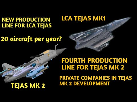 20 Lca Tejas Per Year:third Production Line, Private Companies In Tejas Mk 2 Development