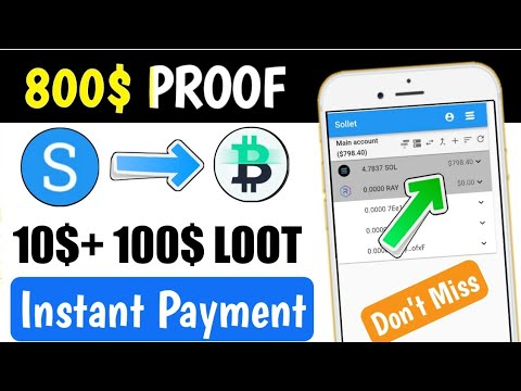 800$ Payment Proof 🤑 New Bitcoin Earning App 2021   Big NFT Instant Claim   Airdrop Crypto