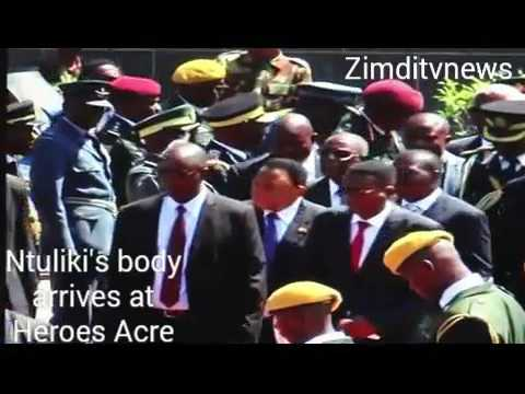 Body of National hero Ntuliki arrives for burial at Heroes Acre