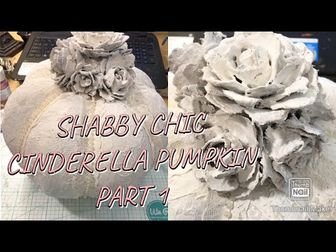 EASY PAPER MACHE SHABBY CHIC FALL PUMPKIN DIY 2019
