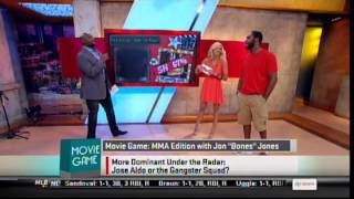 Jon Jones playing game with hot blonde on Sportsnation
