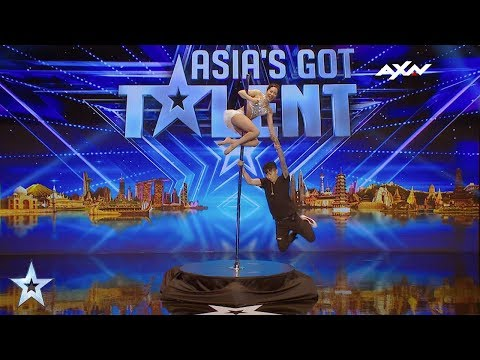 Ryun Jin Pole Dancing Fairy Backstage Interview | Asia's Got Talent 2017