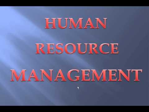 Human Resource Management in Hindi Part 1