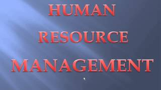 Human Resource Management in Hindi Part 1