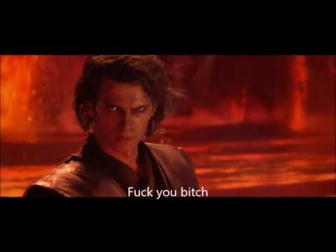 Every Lightsaber Head and Limb Cut but Everytime it happens Anakin Says I hate you