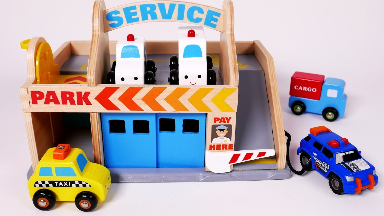 Parking Service Playset for Children Toy Vehicles for ...
