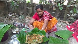 Lotte Macher (Fish) Paturi - Most Delicious Bengali Fish Recipe - Best Indian Village Food