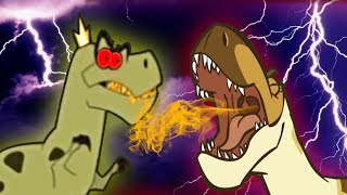TOP 8 DANGEROUS DINOSAURS CARTOONS for Kids | Learn Dinosaur Facts for Children by I
