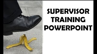 Supervisor Training PowerPoint | First-Time Supervisor, New Supervisor Training Video,  PPT, DVD