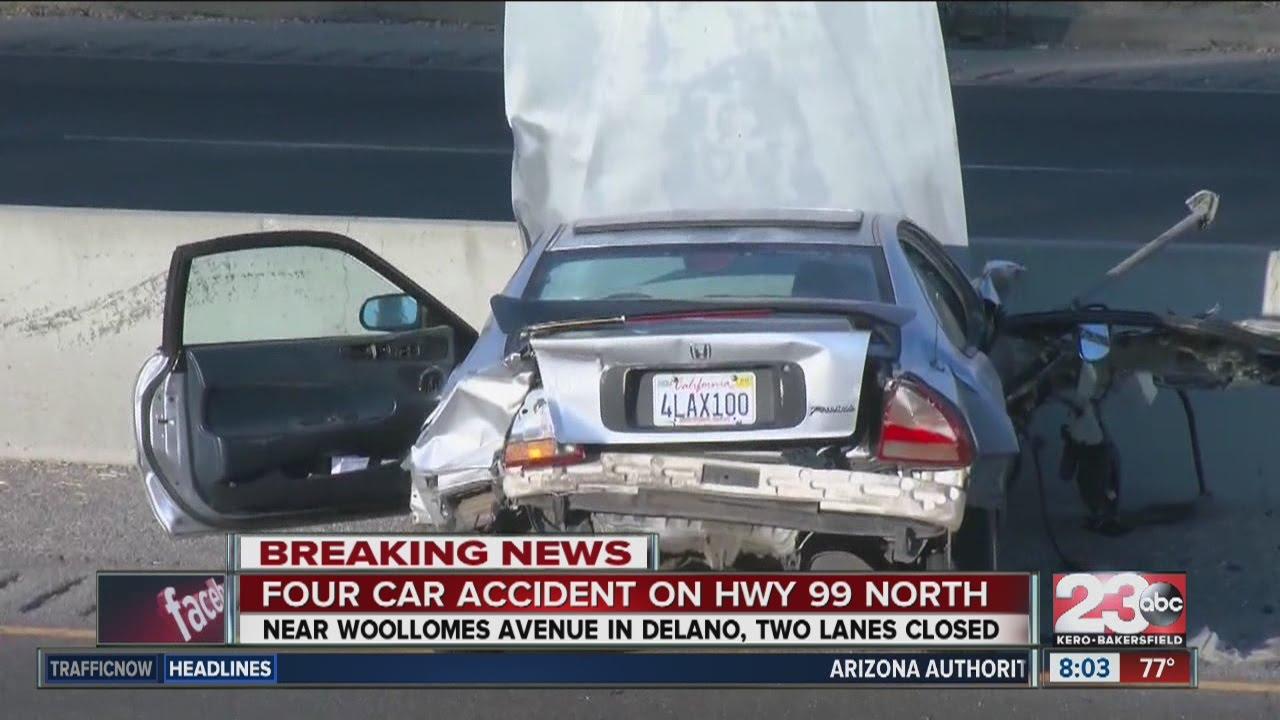Fatal crash closes NB 99 at Woolomes in Delano