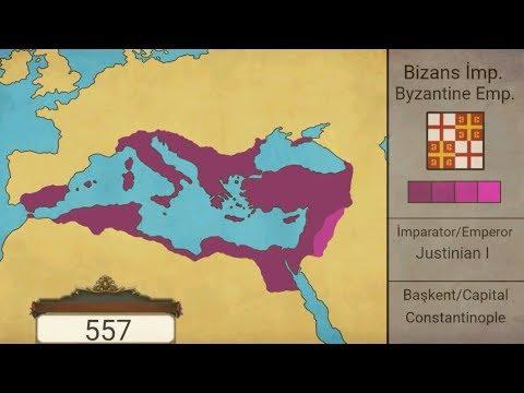 Bizans İmparatorluğu kuruluştan yıkılışa-rise and fall of Byzantine Empire(395-1453)-{harita}