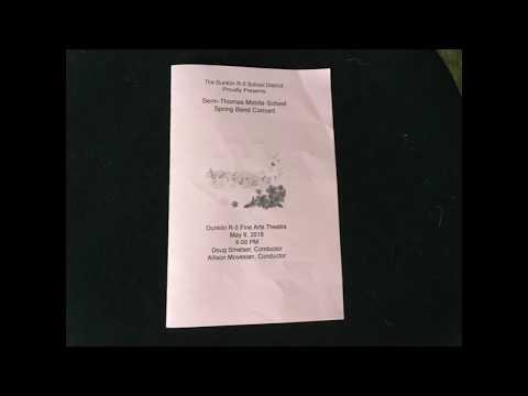 Dunklin R 5 Senn Thomas Middle School Spring Band Concert