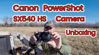 Canon Powershot SX540 HS Digital Camera Unboxing