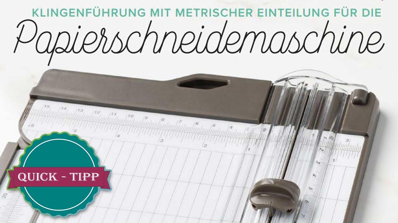 Quick Tipp #31  Neu im Sortiment   Klingenführung mit metrischer Einteilung für den Papierschneider