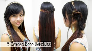 3 Summer Boho Hairstyles