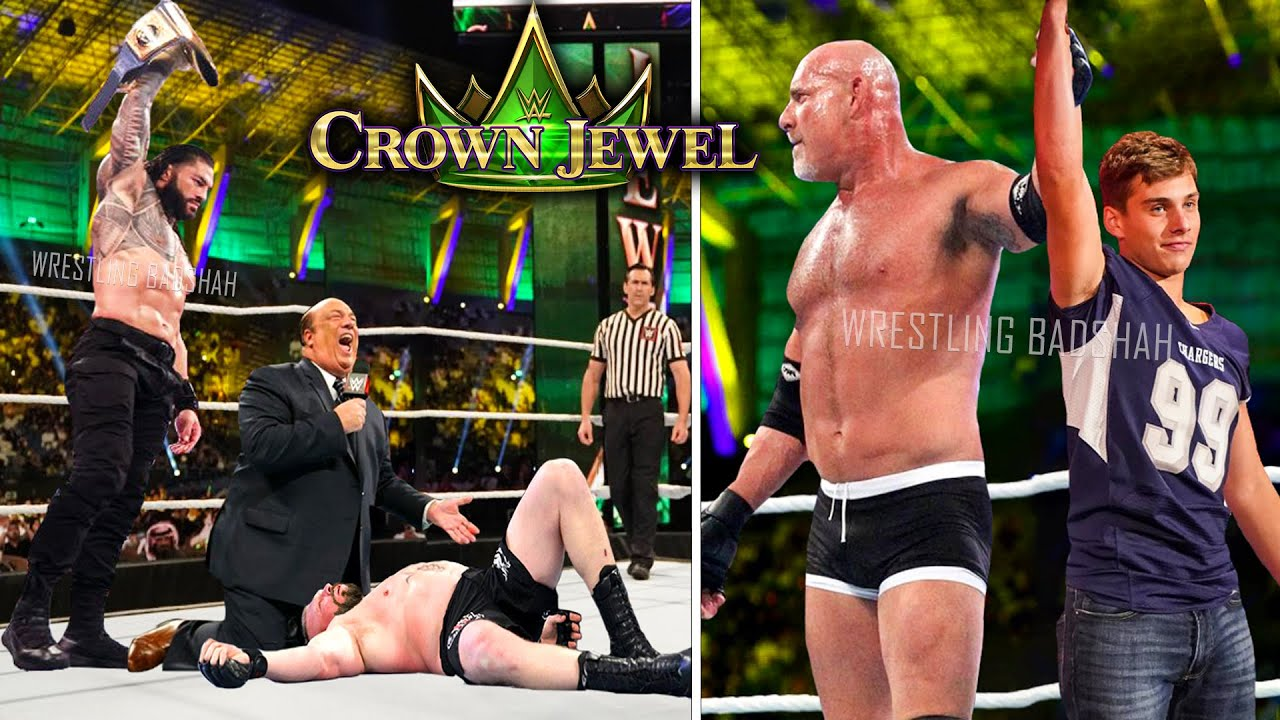 WWE Crown Jewel 2021 Highlights & Predictions | Roman vs Brock | Goldberg vs Lashley | Edge vs Seth
