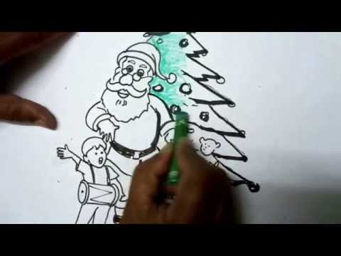 How to Draw Christmas Pictures - Easy Drawing